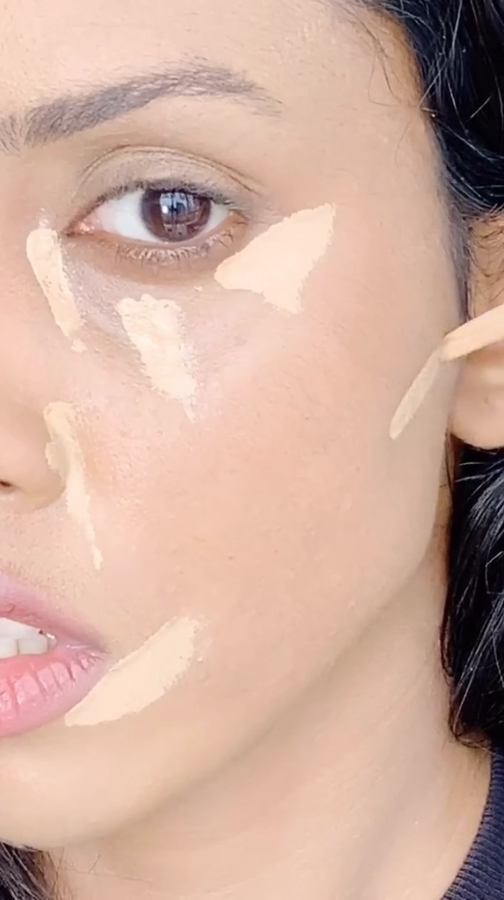 She added more lines down the side of her nose and along her cheekbone