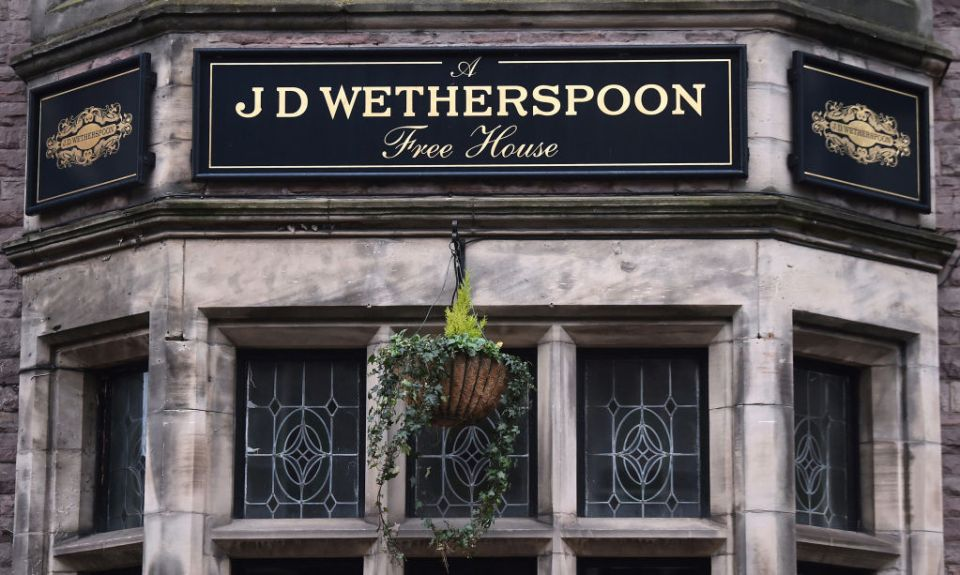 Wetherspoons will open almost all of its pubs next Monday