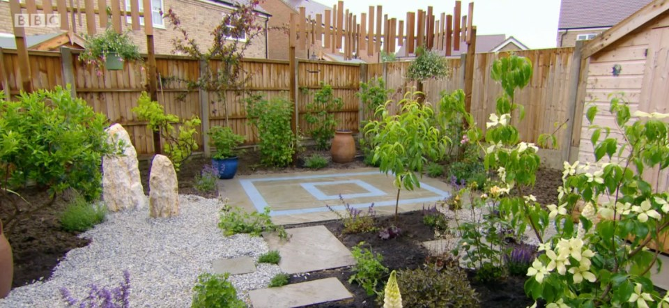 Maureen's new garden looked unrecognisable after the makeover