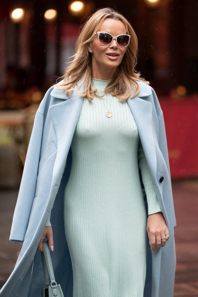 Amanda Holden looked amazing as she left work today