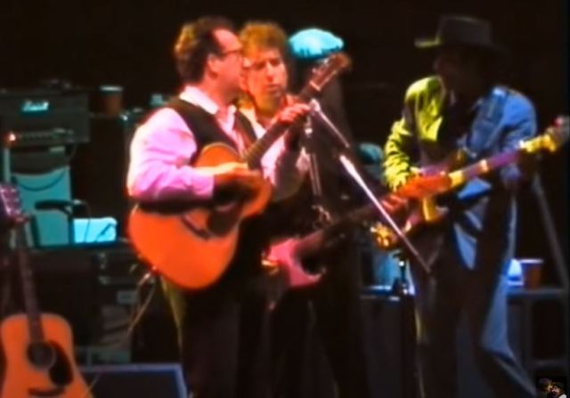Elvis Costello once shared the stage with Dylan at Brixton