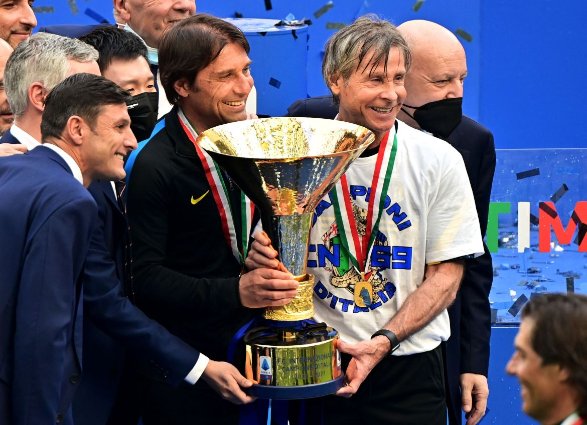 Conte led Inter Milan to Serie A glory for the first time in a decade