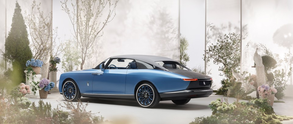 Rolls-Royce's Alex Innes said: 'It's something never seen on a motor car before, but it seemed a logical extension of our limousines that have umbrellas in their doors'