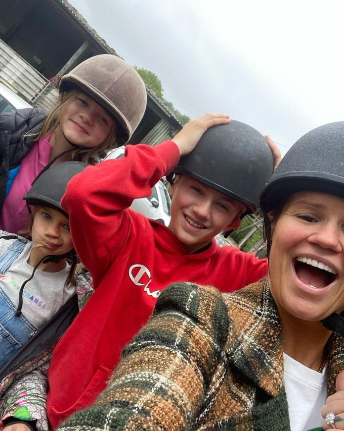 Carey also enjoyed a day out with the three Max, Heidi and Dylan-George