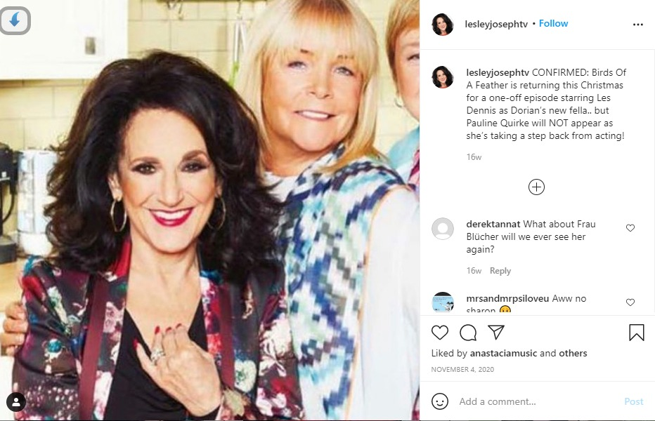 Lesley Joseph cropped Pauline Quirke out of pictures with Linda
