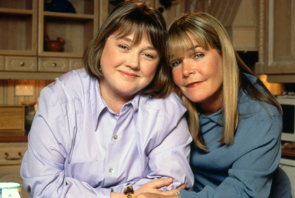 Pauline and Linda on Birds of a Feather in the Nineties