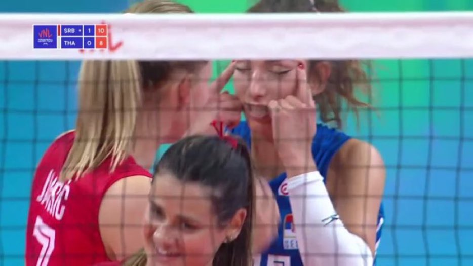 Volleyball star Sanja Djurdjevic fined £15k and banned for two games for  'slit-eye' gesture in game against Thailand