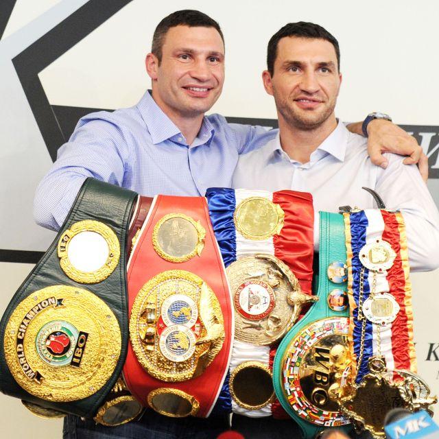 The biggest sporting stars in Ukraine are former heavyweight boxing champions Vitali and Wladimir Klitschko