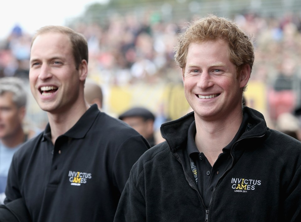 The seeming feud between William and Harry simmers on - and the brothers even rowed at their grandfather's funeral, an author has claimed