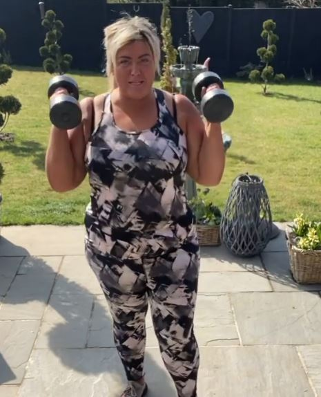 Gemma Collins has lost four stone on her health journey