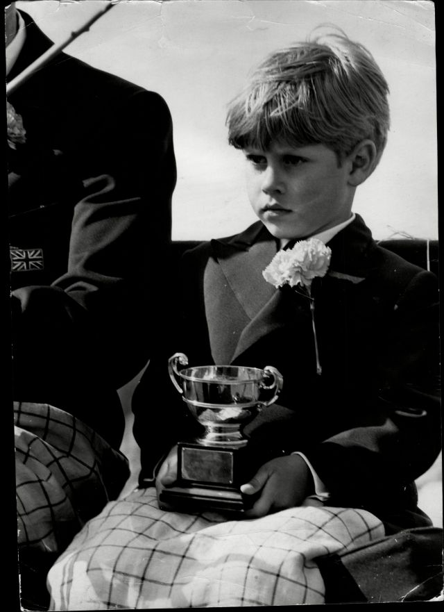 Edward was born on 10 March in 1964 and is 16 years younger than his oldest brother Prince Charles. Pictured: Edward as a boy at The British Driving Society's Annual Competition In Windsor