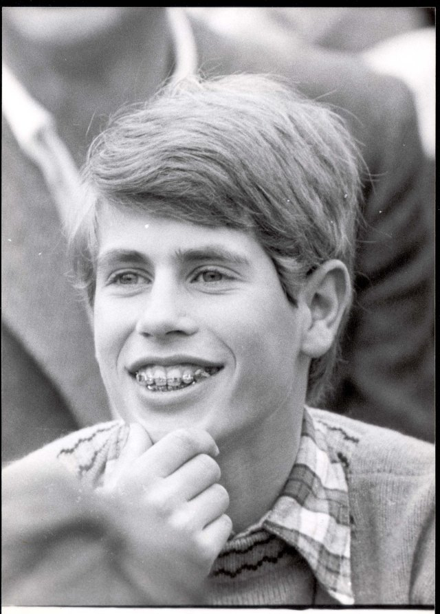 Edward was a head boy at school growing up. Pictured: Edward watching Prince Charles playing polo