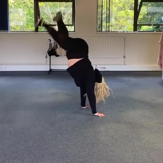 Gemma Collins showing off her flexible figure