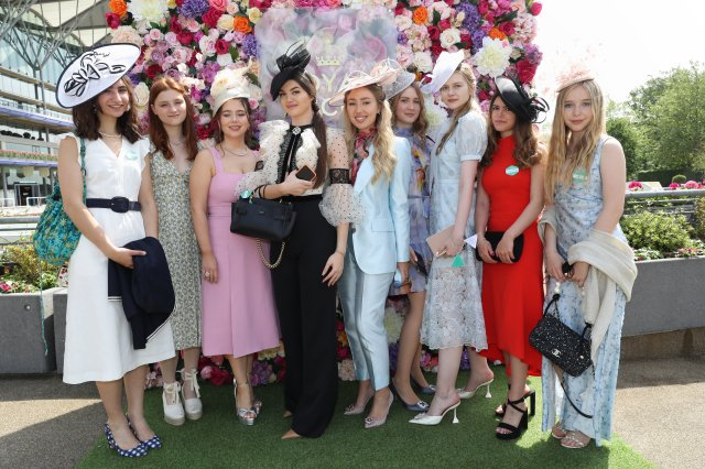 Women beamed as they returned to Royal Ascot, following the event being held virtually in 2020