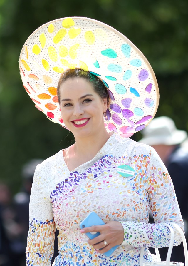 This reveller dazzled in every colour of the rainbow for the stylish event