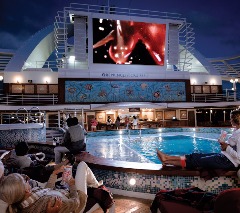 Snuggle and up watch a film under the stars at the poolside Amphitheatre
