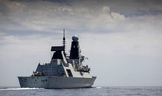 A warplane dropped bombs in the path of British destroyer HMS Defender last Wednesday to force her out of an area near the Crimean Peninsula