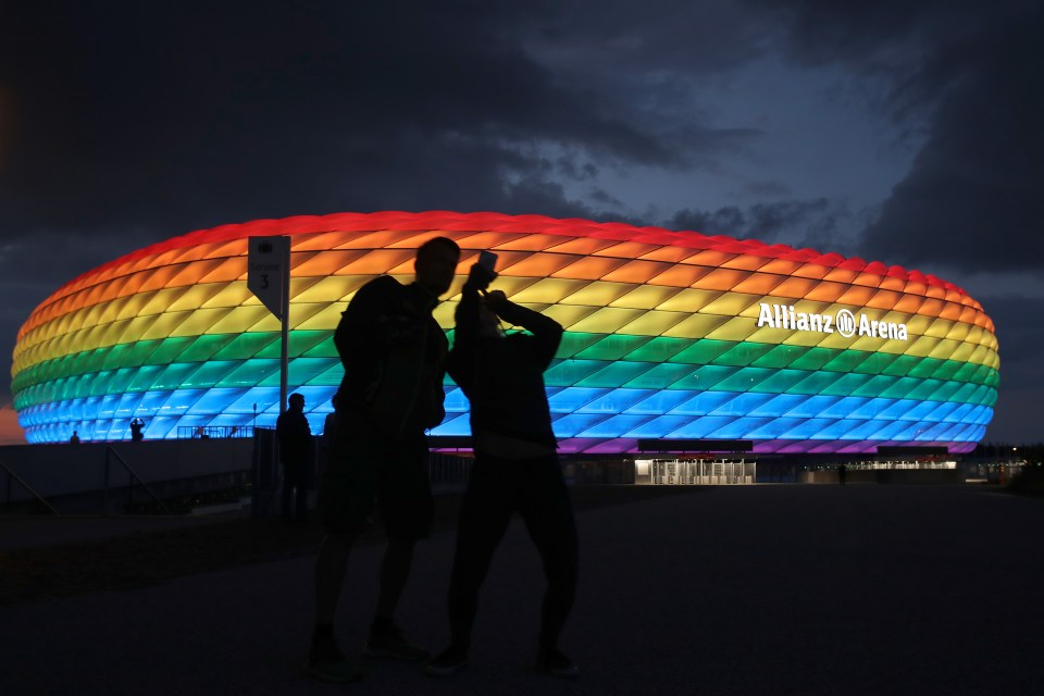 Uefa have denied Germany's request to illuminate the Allianz Arena in rainbow colours in protest of a controversial new law passed in Hungary due to 'political' reasons