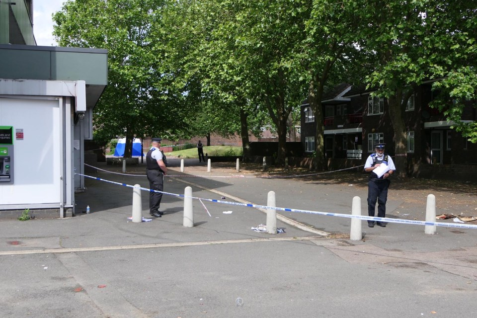 Police have taped off the area in Sydenham