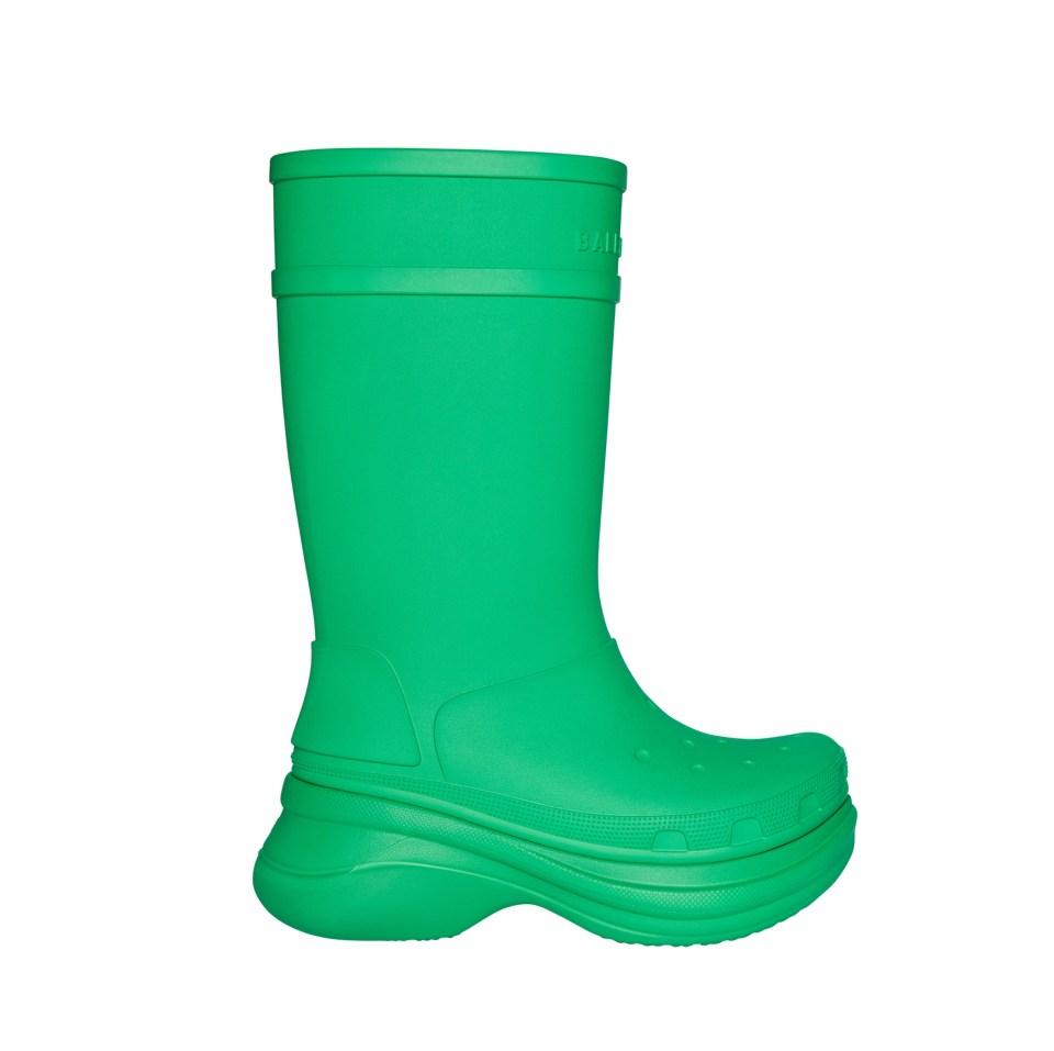 The Balenciaga Spring 2022 collection also includes the croc boots