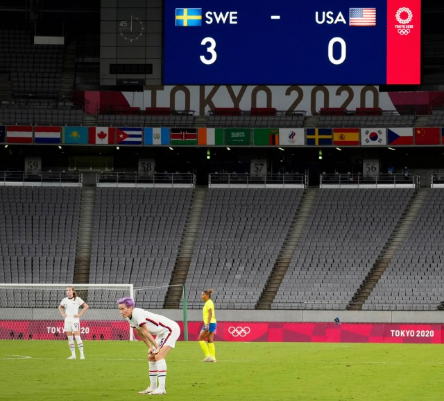 The USWNT suffered a shock defeat to Sweden in their Olympics opener
