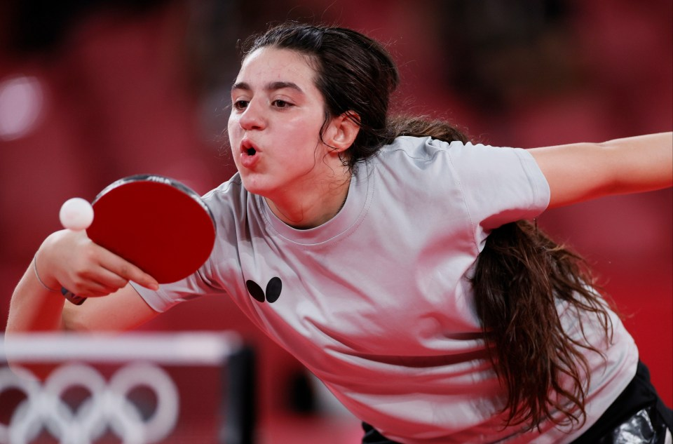 Syrian star Hend Zaza, 12, is out of the Olympics after losing to Austria's Liu Jia