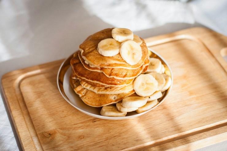 Banana pancakes are a healthier alternative to regular ones