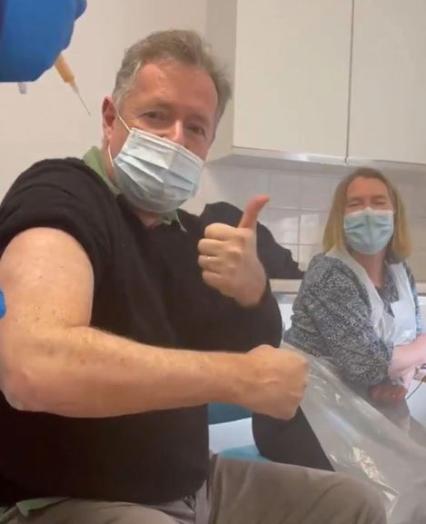 Piers has shown his support to the vaccine rollout from the very start
