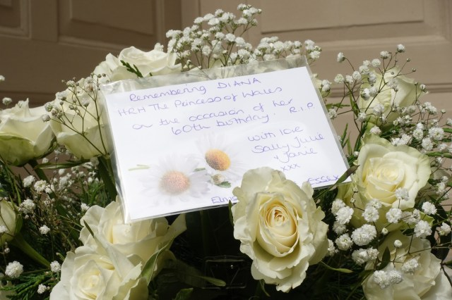 Many people left cards in honour of what would have been her 60th birthday