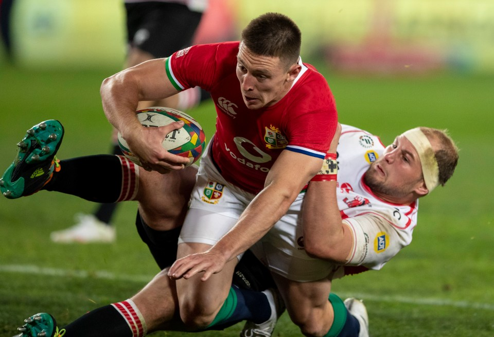 Josh Adams was in stunning form as he put down FOUR tries against the Emirates Lions in the first game