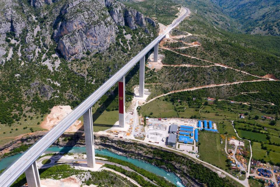 The Montenegro highway which has left the country crippled with debt