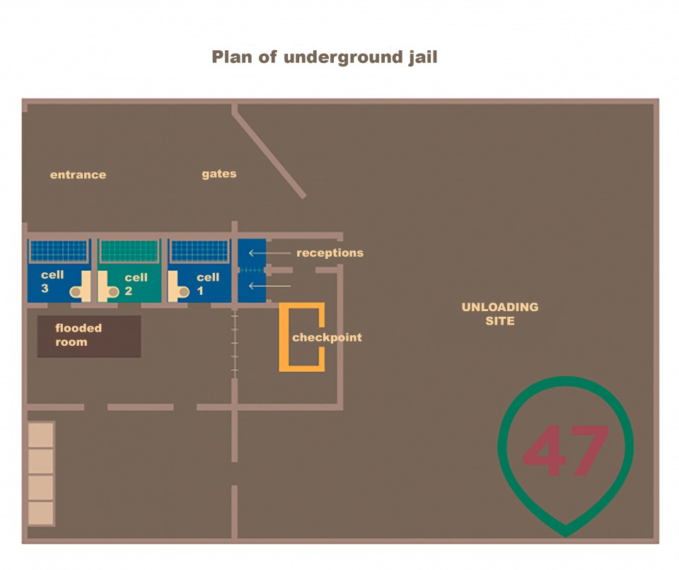 A play showing the prison layout