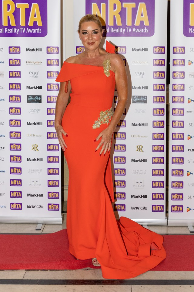 Claire Sweeney stunned in a red ball gown
