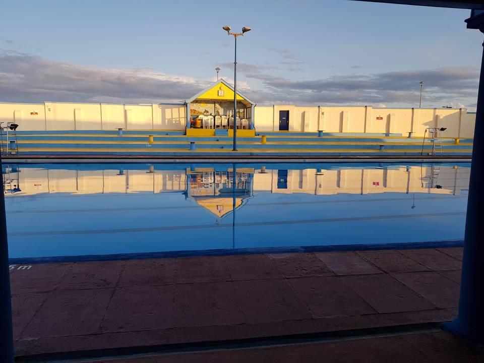 The Stonehaven pool is a whopping Olympic-sized 50m