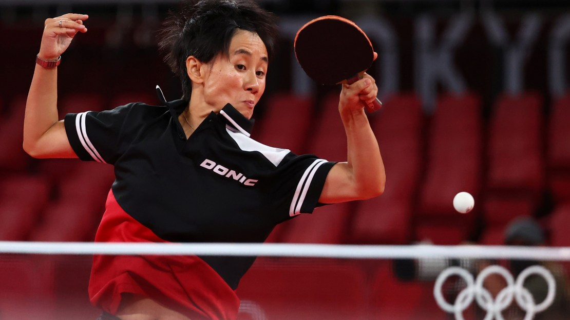 Veteran table tennis player Jia won 4-0 in straight sets against Zaza in Tokyo