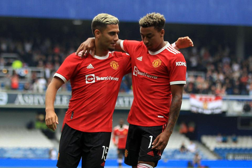 Manchester United Andreas Pereira and Jesse Lingard were back after loan spells