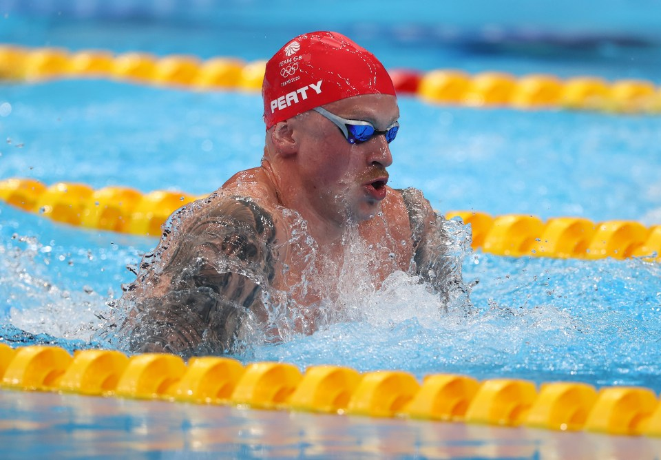 Adam peaty dominated his semi-final as he eyes his second successive Olympic gold in the 100m breaststroke