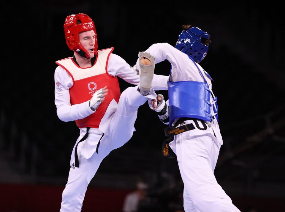 Bradley Sinden fell short of winning Team GB's first gold medal of Tokyo 2020
