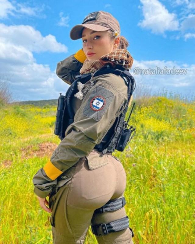 TikToker Natalia Fadeevy often shares snaps of herself in uniform
