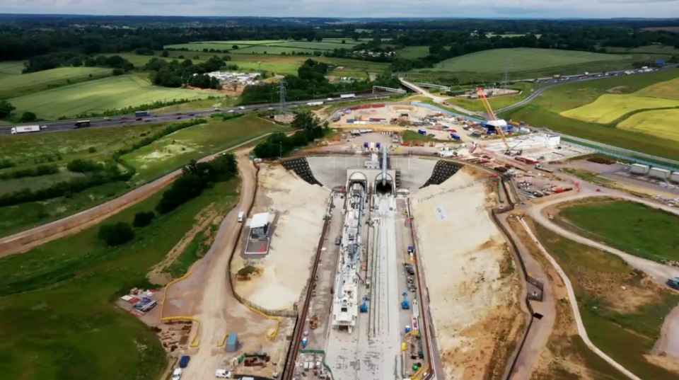 Viewers were given an update on the line being built underground