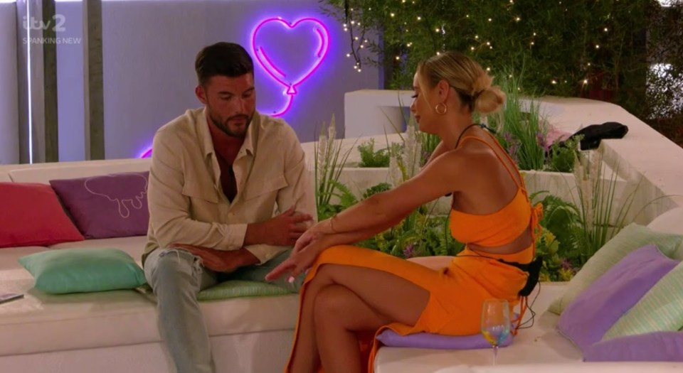Liam had some serious explaining to do after his return from Casa Amor