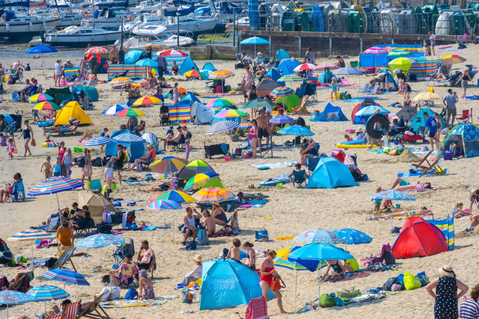 Lyme Regis in Dorset is likely to be swimming with beachgoers