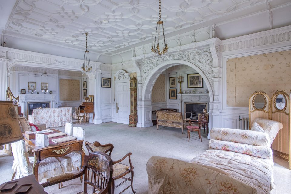 The glamorous property is decorated for royalty