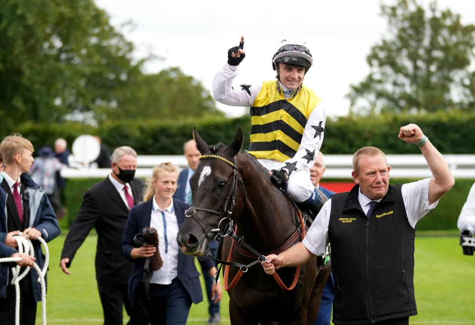 Commanche Falls was steered home by Connor Beasley