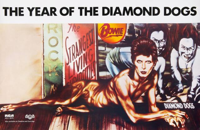 David Bowie posed as a half-man half-dog creature for Diamond Dogs