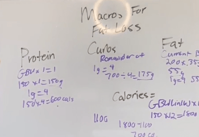 Eric posted his workouts to show his followers how to calculate their macros