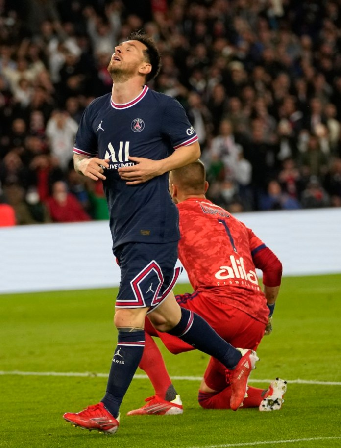 Messi disappointed with Lyon after PSG failed to click front three