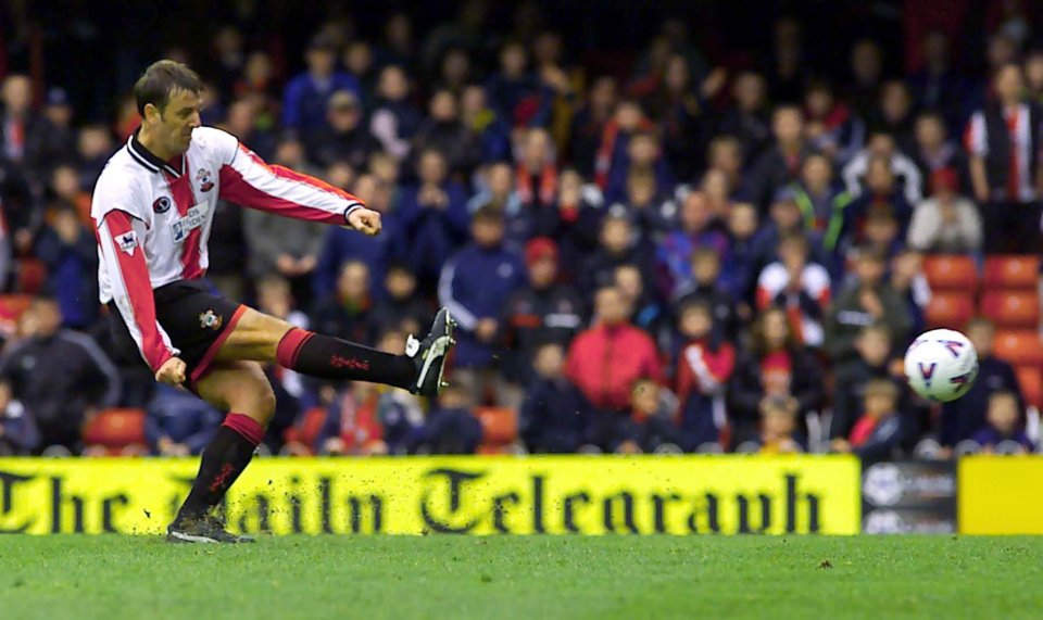 Former England international Le Tissier scored 46 out of his 47 spot-kicks for the Saints