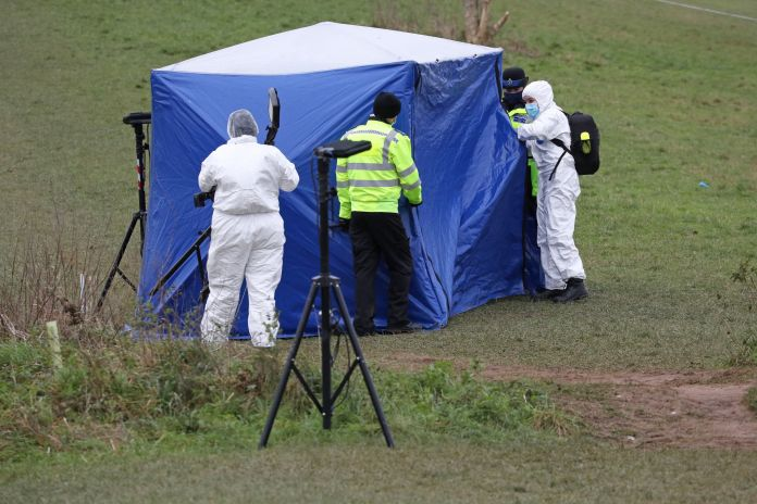 Forensics at the scene after Oli's death