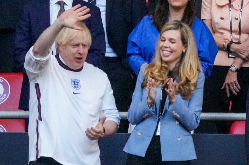 The PM and Carrie Johnson at the Euros